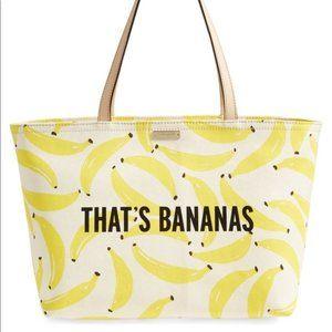 BNWT Kate Spade That's Bananas Francis Tote Bag